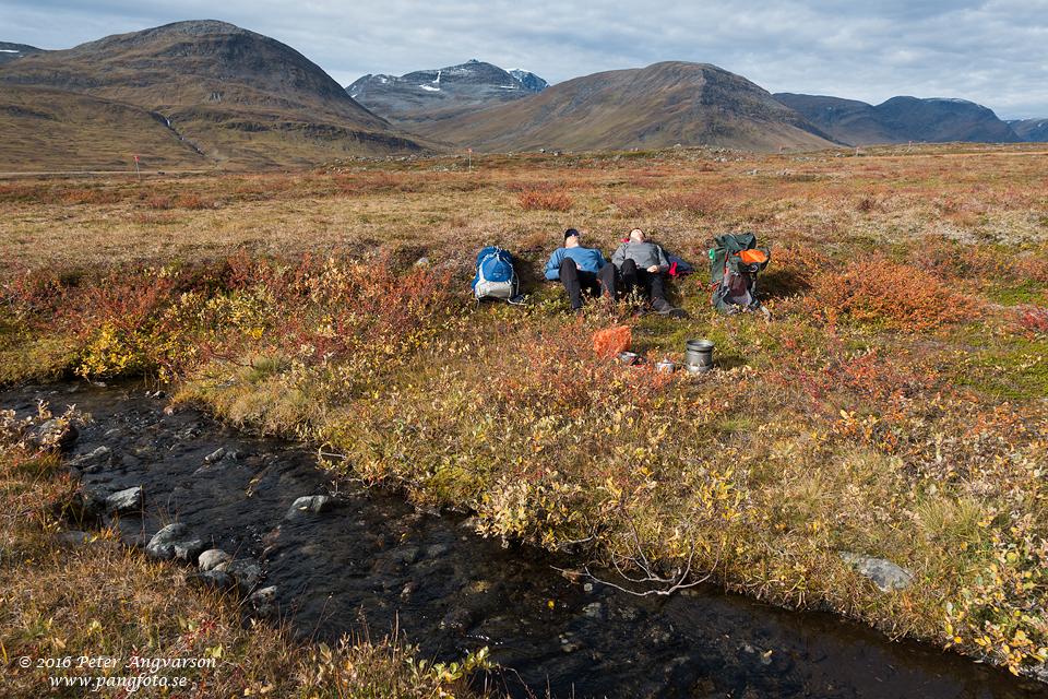 kungsleden nordkalottenleden fjällvandring pangfoto Peter Angvarson
